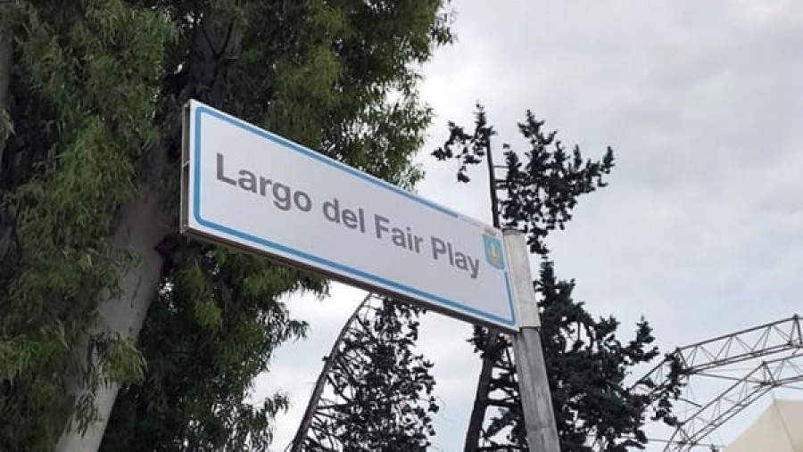 "Latina - Inaugurato a Latina il ""Largo del Fair Play"""